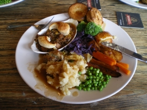 Annie's amazing huge vegan Sunday roast